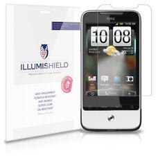iLLumiShield Phone Screen Protector w Anti-Bubble/Print 3x for HTC Legend