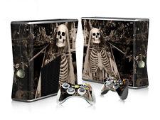 XBOX 360 Slim Skin Design Foils Aufkleber Schutzfolie Set - Skeleton Motiv