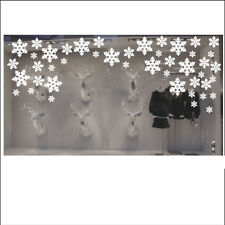 Christmas Snowflake Shop Window Decorations / Wall  Display Stickers x 60 - Pack