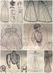 1909 Coat Suit, Split Skirt, Day Dress, Civil War Ball Gown Rocking Horse Farm