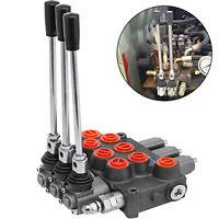 3 Spool Hydraulic Control Valve MB31BBB5C1 8 GPM Enclosed 4W3P 8 SAE Ports