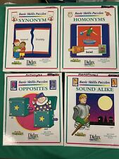 Lot of 4 Basic Skills Puzzles Didax Hands on Phonics Opposites, Sound Alike More