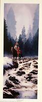 High Mountain Cascade by Mark Silversmith Western Native American SN LE Litho