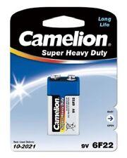 1 x Camelion 6F22 Super Heavy Duty Batterie 9V E-Block 9 Volt Blau