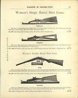 1905 PAPER AD Senorita Chiquita Gem Defiance Women's Shot Gun Vintage Davis
