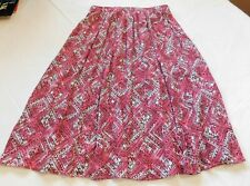 Womens ladies Laura Scott below knee skirt S small Pink Brown White GUC