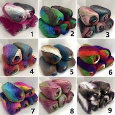 100 Gr. Regenbogen Wolle, Farbverlauf, 26 Farben, NEUE Farben