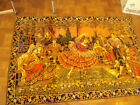 Huge Tapestry Spanish Flamenco dancers w/ band 74x49 Excellent condition rug