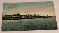Vintage Postcard Of Waterfront Vancouver BC Old Boats Sitting At The Dock/Pier