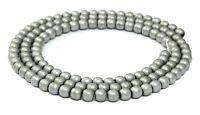 😏 Hämatit Perlen Kugeln 4 mm matt silber Spacer Strang für Edelsteinkette 😉