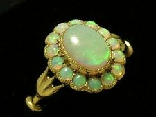 Ring Opal Yellow Gold 9k Vintage & Antique Jewellery