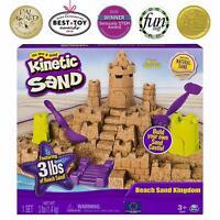 Fast Shipping! {NEW} Kinetic Sand Beach Sand Kingdom Playset Molds Tools Sand