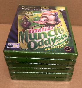 Xbox Oddworld: Munch's Oddysee ( 2002) UK Pal, Factory Sealed  **Flawed**