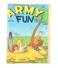 ARMY FUN Aug 1966 Vol 8 No 5 Bill Wenzel GGA Army Humor Risque Cartoons Digest