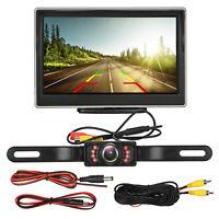 """Car Backup Camera Rear View HD Parking System Night Vision + 5"""" TFT LCD Monitor"""