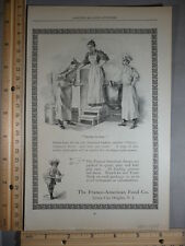 Rare Orig VTG 1898 Franco American Food Stuff Poem Cartoon Advertising Art Print