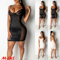 Women Sleeveless Bandage Party Evening Mini Dress Cocktail Short Club Bodycon