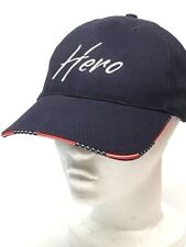 American HERO Baseball Cap Hat Embroidered Red White Blue Stars Stripes Rim NEW