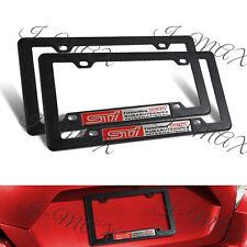 2PCS Subaru STI Car Trunk Emblem w/ ABS License Plate Tag Frame for Impreza WRX
