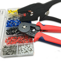 Crimp Crimper Tool Bootlace Ferrule Plier Sets + 1200Pcs Wire Terminal Connector