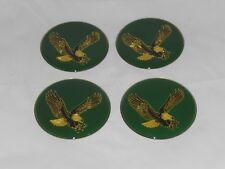 """4 - GREEN EAGLE BIRD WHEEL RIM CENTER CAP ROUND DECAL STICKER LOGO 2.75"""" / 70mm"""