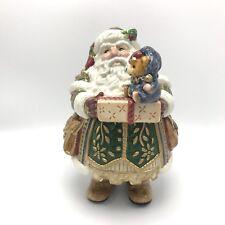 "Fitz And Floyd ""Jolly Ole St. Nick"" Lidded Box/Candy Jar, Santa Claus/Christmas"