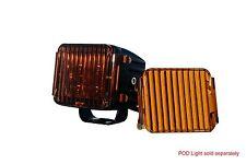 "3"" OZ-USA® Amber Flood Lens Cover for POD lights Cube fog dust offroad (1 pair)"