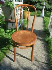 Antique Thonet Bentwood Wooden Seat Parlor Bistro Chair