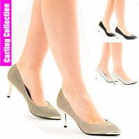 Womens Ladies Stiletto High Heel Sandals Party Office Work Wedding Court Shoes