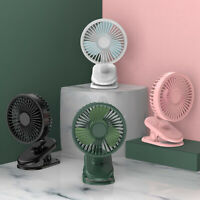 AU_ 3 Speeds USB Rechargeable Mini Cooling Fan Clip On Desk Baby Stroller Portab