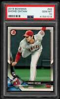 2018 Bowman Shohei Ohtani RC #49 Los Angeles Angels PSA 10