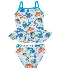 Flapdoodles Floral Fish Print Tankini Two-Piece Swimsuit Toddler Girl Size 2T