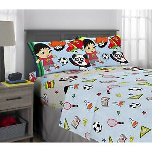 NEW Ryan's World Kids Bedding Super Soft Microfiber Full Size 4 Piece Sheet Set