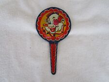 Vintage Kirchhof Life of the Party Noise Maker Tin Paddle Style Clown~ Usa