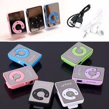 Mini Mirror Clip USB Digital Mp3 Music Player Support 8GB SD TF Card Earphone