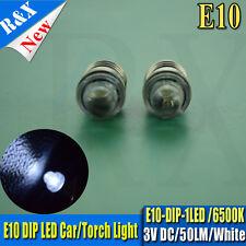 10X E10 Led Flashlight Replacement Bulb Torches Dashboard Lamp Light  White DC3V