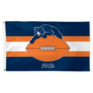 CHICAGO BEARS RETRO 1946 3'X5' DELUXE FLAG NEW WINCRAFT 🐻