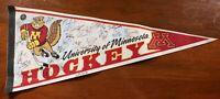 University of Minnesota Golden Gophers Hockey Team Signed Pennant Autographed