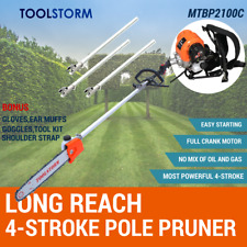 4-STROKE Long Reach Backpack Pole Chainsaw Hedge Trimmer Pruner Cutter Chain Saw
