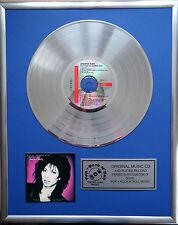 """Jennifer Rush the power of CD/Cover gerahmt +12"""" Deko goldene Vinyl Schallplatte"""