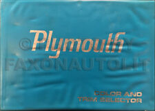 1969 Plymouth Color and Upholstery Dealer Album for all models Large Showroom