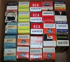 lot of 24 vintage NOS 6sn7gtb  tubes   sylvania ge rca tung sol 6sn7gta