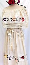 HAND Embroidered Mexican DRESS PEASANT BOHO Vintage up XXL ALL COLORS 5 DE MAYO