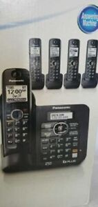 Panasonic KX-TG6645B 1.9 GHz Five Handsets Single Line Cordless Phone Answering