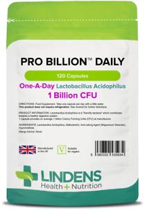 Pro Billion Daily CFU Acidophilus 120 Capsules One a Day Lindens