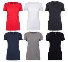 Manga Corta Mujer Camiseta Camisa de Verano Runddhals Camiseta Top Uni Cvc