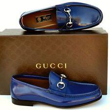 GUCCI New sz UK 10.5 US 11.5 Designer Horsebit Mens Leather Dress Loafers Shoes
