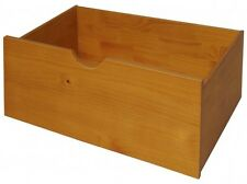 2 X UNDERBED DRAWERS,HONEY PINE WOODEN  DRAWS GREAT FOR STOREAGE ON WHEELS
