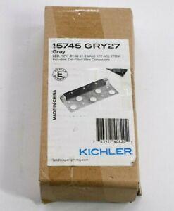 Kichler 15745 GRY27 12V LED Hardscape Gel Filled Connectors Gray Bracket New