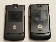 Lot Of Two Not Working Motorola Razr V3 Black At&T Cellular Phones A3.3